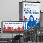 DePaul's brand campaign reminds Chicago that 'Here, We Do.'